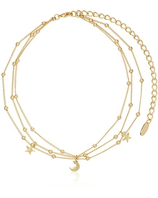 "Ettika Galileo in Gold Choker Necklace, 10"" + 5"" Extender"