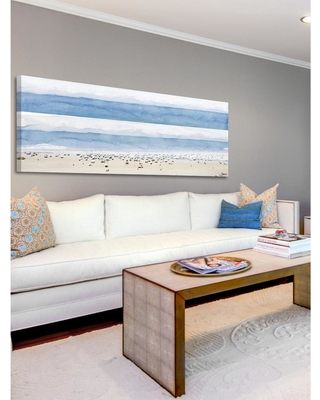 """PARVEZ MICHEL 15 in. H x 45 in. W """"House Ipanema"""" by Parvez Taj Printed Canvas Wall Art, Multi-Colored"""