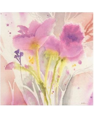 """Trademark Art """"Magenta Duo"""" by Sheila Golden Painting Print on Wrapped Canvas SG5721-C Size: 14"""" H x 14"""" W x 2"""" D"""