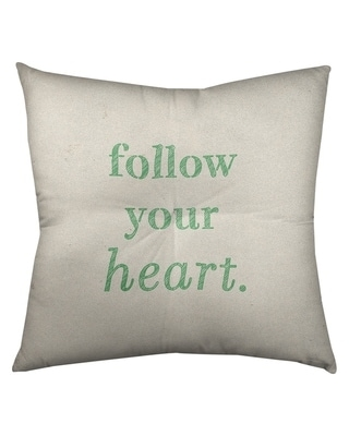 Amazing Savings On Quotes Handwritten Follow Your Heart Quote Floor Pillow Square Tufted 26 X 26 Square Knife Edge Large Polyester N A Floor