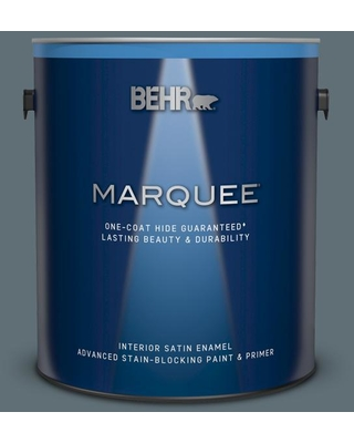 BEHR MARQUEE 1 gal. #740F-5 Myth Satin Enamel Interior Paint and Primer in One
