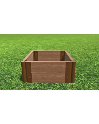 "2 ft x 2 ft Composite Raised Garden Bed Frame It All Size: 11"" H x 24"" W x 24"" D"