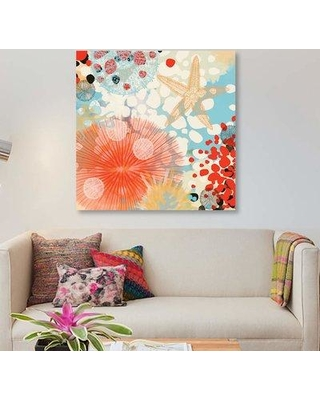 """East Urban Home 'Exotic Sea Life II' Graphic Art Print on Canvas EBHT2287 Size: 12"""" H x 12"""" W x 0.75"""" D"""