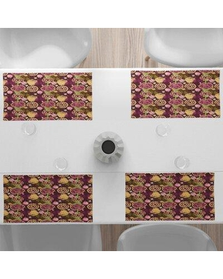 """East Urban Home 18.5"""" Placemat, Polyester in Purple, Size 12""""H X 18""""W   Wayfair 9B5C46C0628444239BBD2CBF3D9CC506"""