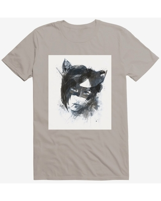 DC Comics Batman Catwoman Watercolor Light Grey T-Shirt