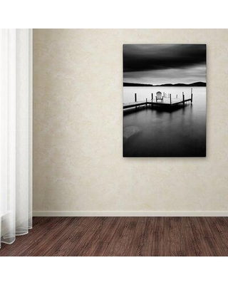 """Trademark Fine Art 'Thunderstorm' Photographic Print on Wrapped Canvas ALI12881-C Size: 19"""" H x 14"""" W"""
