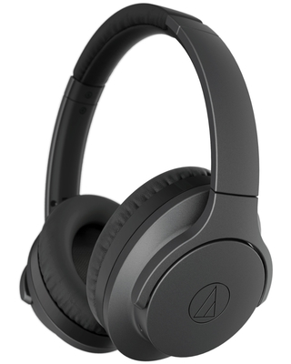 AudioTechnica ATH-ANC700BTBK QuietPoint Wireless Active Noise-Cancelling Headphones with Built-In Controls (Black)