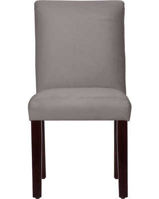 Hendrix Dining Chair with Espresso Legs Gray Velvet - Cloth & Co.