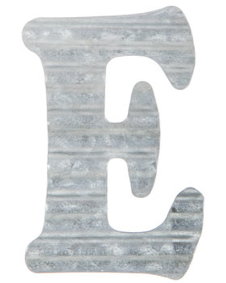 Amazing Deal on Corrugated Metal Letter Wall Decor - E