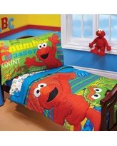 Sesame Street ABC 123 4 Piece Toddler Bedding Set 9190416