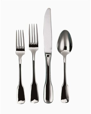 Alsace 5 Piece 18/10 Stainless steel Flatware Set, Service for 1 Ginkgo
