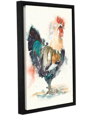 """Latitude Run Rooster 1 Framed Painting Print LTRN6410 Size: 24"""" H x 16"""" W x 2"""" D"""