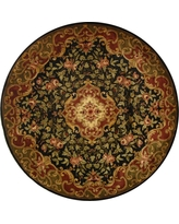 Black/Green Abstract Tufted Round Accent Rug - (3'6 Round) - Safavieh