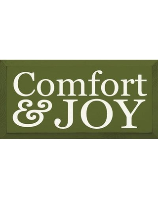 Sawdust City Comfort & Joy Textual Art Plaque 5881