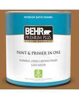 Savings On Behr Premium Plus 5 Gal Mq4 05 Castellina Satin Enamel Exterior Paint And Primer In One