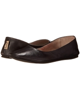 French Sole Sloop Flat (Black Nappa Leather) Women's Flat Shoes