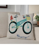 """The Holiday Aisle Decorative Holiday Geometric Print Square Throw Pillow THLA6901 Size: 20"""" H x 20"""" W, Color: Aqua"""