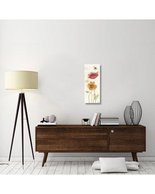 """East Urban Home 'Painted Poppies Vi' Graphic Art Print on Canvas ERBR1701 Size: 30"""" H x 12"""" W x 1.5"""" D"""