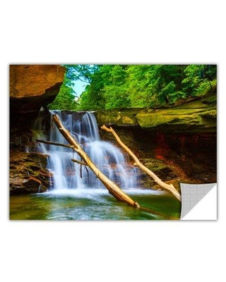 """ArtWall 'Brecksville Falls' by Cody York Photographic Print Removable Wall Decal 0yor011ap Size: 16"""" H x 24"""" W x 0.1"""" D"""