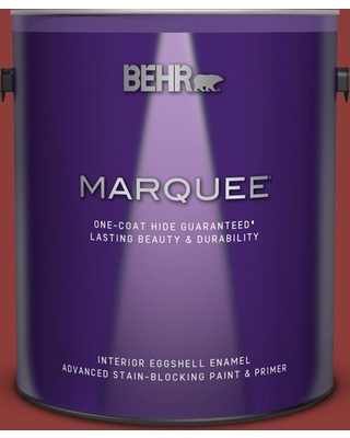 BEHR MARQUEE 1 gal. #180D-7 Roasted Pepper Eggshell Enamel Interior Paint and Primer in One