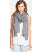 Women's Nordstrom Cashmere & Silk Wrap, Size One Size - Grey