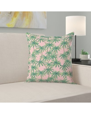 """Palms Obsession Throw Pillow East Urban Home Size: 18"""" H x 18"""" W x 1.5"""" D"""