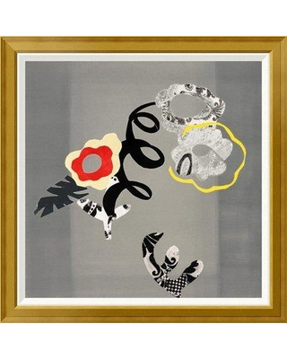 """East Urban Home 'Composition of Open Flowers' Framed Graphic Art Print on Canvas EUAH7638 Size: 36"""" H x 36"""" W Matte Type: Ivory"""