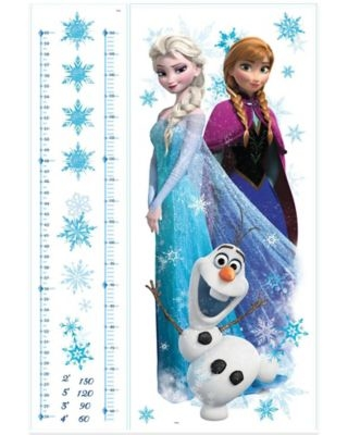 """Disney® """"Frozen"""" Anna, Elsa, and Olaf Peel and Stick Giant Growth Chart"""