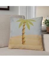 """The Holiday Aisle Decorative Holiday Geometric Print Throw Pillow HLDY1539 Color: Light Blue, Size: 20"""" H x 20"""" W"""