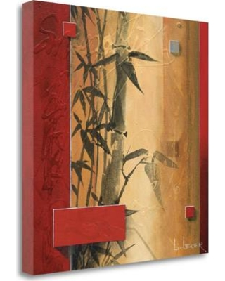 """Tangletown Fine Art 'Bamboo Garden' Graphic Art Print on Wrapped Canvas CA304062-2020c Size: 20"""" H x 20"""" W"""