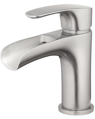 TOSCA Capri Brushed Nickel 1-Handle 4-in Centerset WaterSense Bathroom Sink Faucet with Drain and Deck Plate   H07L-412-BN