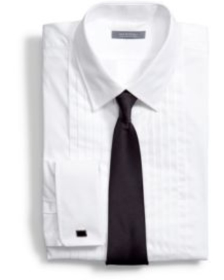 Madison Men's Classic Fit Formal Tuxedo Shirt And Tie Set -