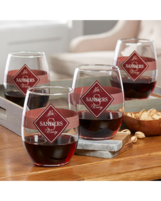 Family Winery Personalized Stemless Wine Glass