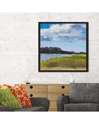 "Winston Porter 'Blue Skies' Framed Oil Painting Print On Canvas BF154419 Size: 21.5"" H x 21.5"" W x 2"" D"