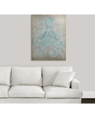 "Great Big Canvas 'Spa Octopus I' Jennifer Goldberger Graphic Art Print 2275568_ Size: 36"" H x 27"" W x 1.5"" D Format: Canvas"