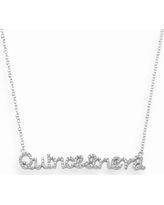 """Sophie Miller Sterling Silver Cubic Zirconia Quinceanera Necklace, Women's, Size: 16"""", White"""