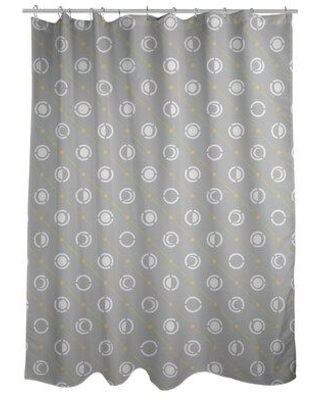 ArtVerse Noira Gothard Classic Moon Phases Single Shower Curtain GOT0-SCDHOS Color: Yellow Accent/White