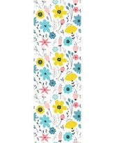 "Bungalow Rose LurLine Removable Field Colorful Flowers Nursery 8.33' L x 25"" W Peel and Stick Wallpaper Roll CJ293670"