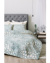 Blue Dash and Ash Cove Comforter Set (King) 3pc - Deny Designs