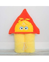 Big Yellow Bird Puppet Hooded Bath Towel for Baby Child and Teens