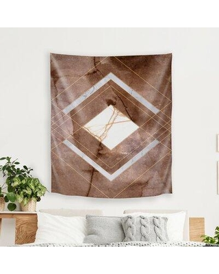 The Best Sales For East Urban Home Hope Bainbridge Stone Marble I Tapestry In Brown Size 104 H X 88 W Wayfair 1601bc68e1584200840977619ec9135a