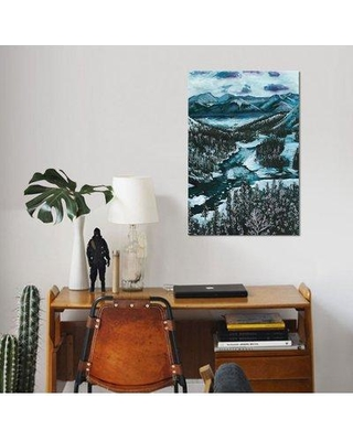 "East Urban Home 'Mountainscape I' Watercolor Painting Print on Wrapped Canvas ESUH7941 Size: 26"" H x 18"" W x 1.5"" D"