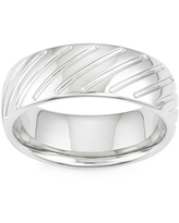 Textured Stainless Steel Band Ring, 13 , No Color Family