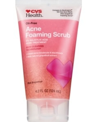 CVS Health Oil-Free Acne Foaming Scrub Pink Grapefruit, 4.2 oz
