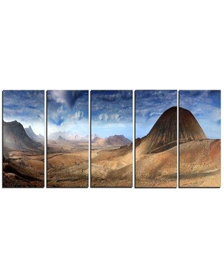 Design Art Mountain Scenery Panorama Landscape 5 Piece Photographic Print on Wrapped Canvas Set PT6877-401