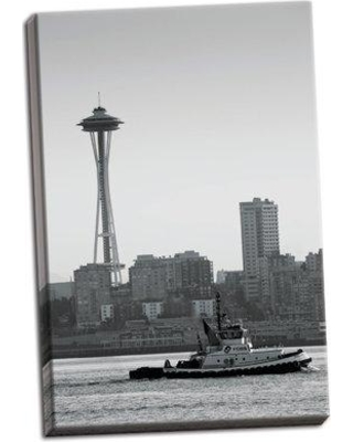 East Urban Home 'Space Needle IV' Photographic Print on Wrapped Canvas BI051772