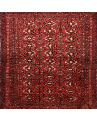 Bloomsbury Market Traditional Beige/Red/Brown Area Rug X111541744 Rug Size: Square 4'