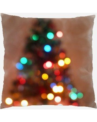 The Holiday Aisle Woodbranch Christmas Tree Indoor/Outdoor Canvas Throw Pillow W001274175
