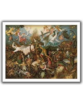 """ArtWall 'The Fall of the Rebel Angels' by Pieter Bruegel Painting Print on Rolled Canvas Bruegel-011-14x18 Size: 40"""" H x 52"""" W"""