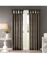 """Lillian Twisted Tab Lined Curtain Panel Grey (50""""x95"""")"""